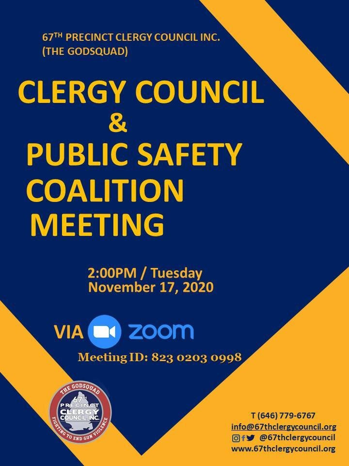 Clergy Council & Public Safety Coalition Meeting