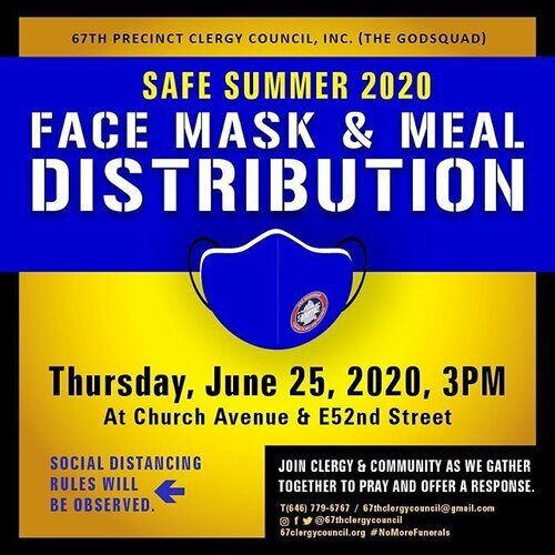 Safe Summer 2020 Face Mask & Meal Distribution